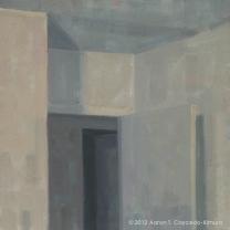 "Doorways. Oil on Canvas. 18"" x 18""."