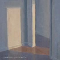 "Invitation. Oil on Canvas. 18"" x 18""."