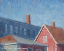 """Saum Court. Oil on Canvas. 24"""" x 30""""."""