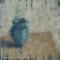 """Viridian. Oil on Canvas. 20"""" x 20""""."""