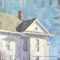 "White House. Oil on Canvas. 10"" x 10""."
